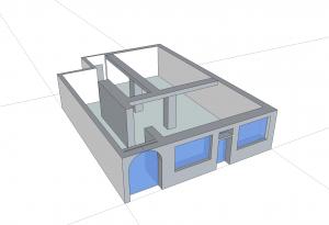 3D Modell des Ladens für die Ausstellung