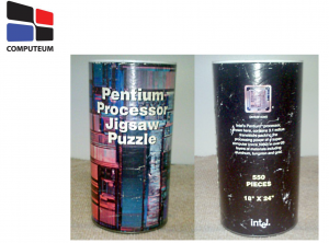 Beispielsfolie mit Puzzle des Intel Pentium