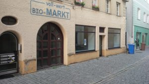 Der ehemalige Biomarkt in der Donaugasse