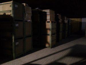 Gitterboxen im Lager