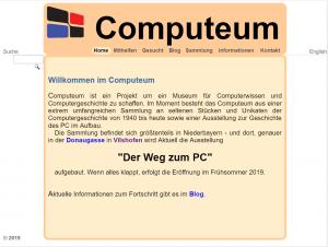 Startseite des Computeum