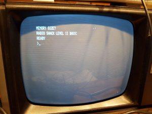 Nach der Reparatur startet der Rechner problemlos in das Level II BASIC