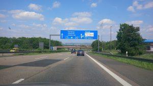 Auf der Autobahn kurz vor Kassel