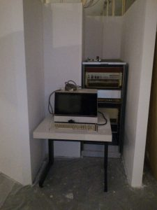 Büro-Dietz 621 mit Terminal testweise an ihrem künftigen Standort