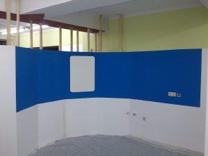 Das Rondell mit dem neuen blauen Hintergrund.