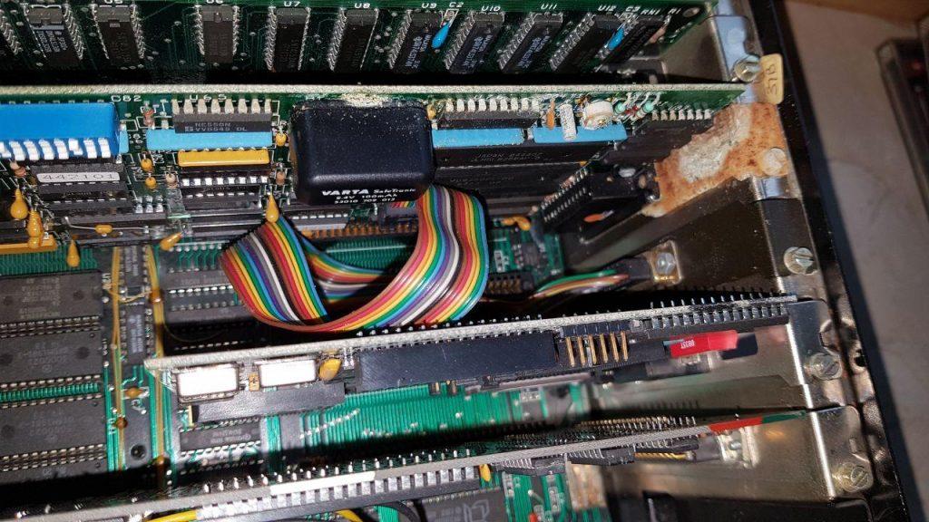 Blick in den PC mit dem Säureschaden