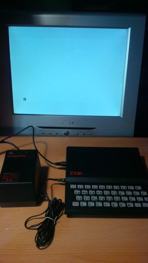 Startbildschirm des ZX81