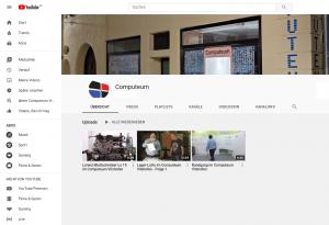 Titelseite des Comuteum Youtube-Kanals